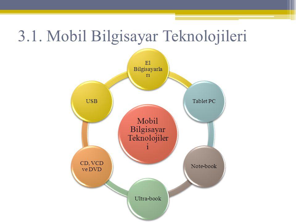 3.1. Mobil Bilgisayar Teknolojileri