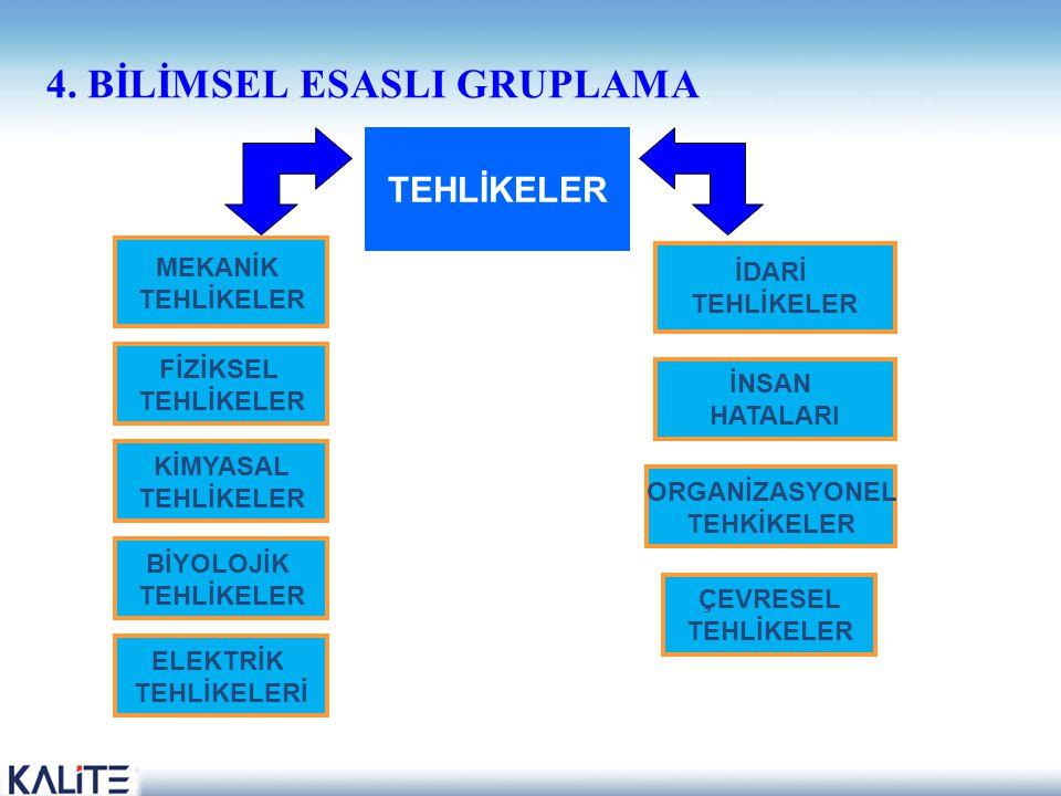 4. BİLİMSEL ESASLI GRUPLAMA