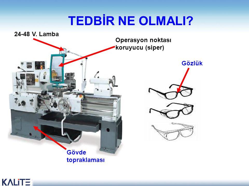 TEDBİR NE OLMALI 24-48 V. Lamba Operasyon noktası koruyucu (siper)