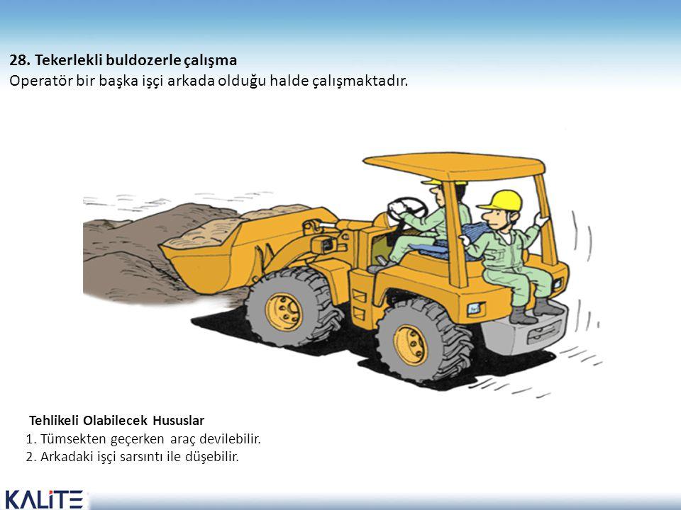 28. Tekerlekli buldozerle çalışma