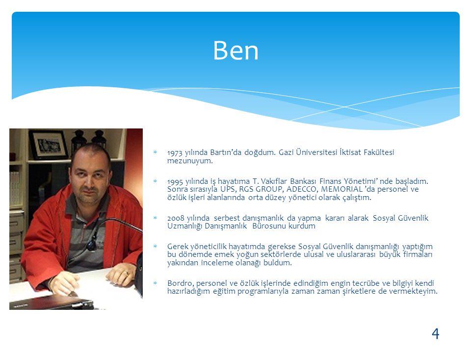 Ben 1973 yılında Bartın'da doğdum. Gazi Üniversitesi İktisat Fakültesi mezunuyum.