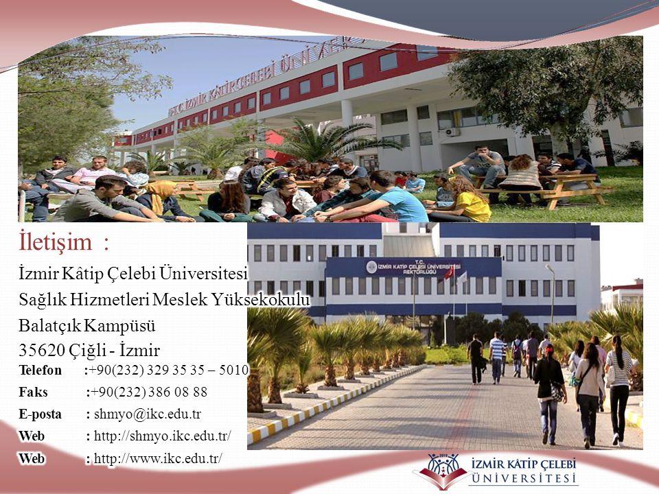 İletişim : İzmir Kâtip Çelebi Üniversitesi