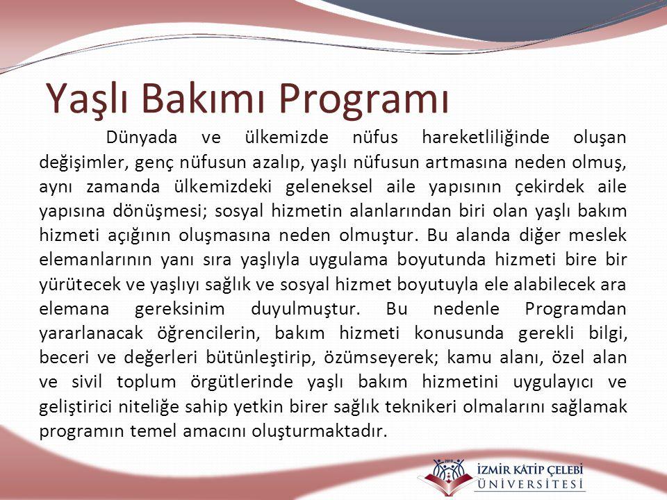 Yaşlı Bakımı Programı