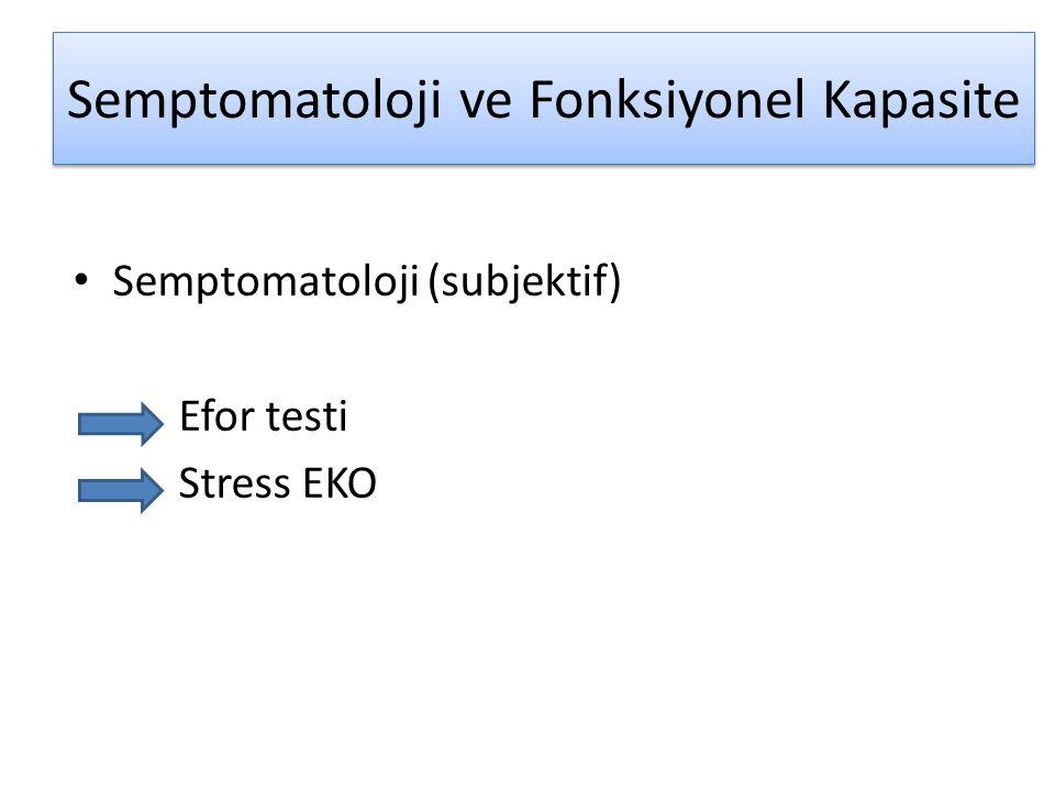 Semptomatoloji ve Fonksiyonel Kapasite