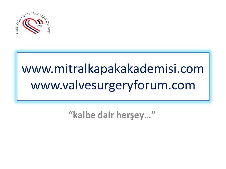 www.mitralkapakakademisi.com www.valvesurgeryforum.com
