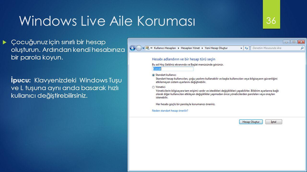 Windows Live Aile Koruması