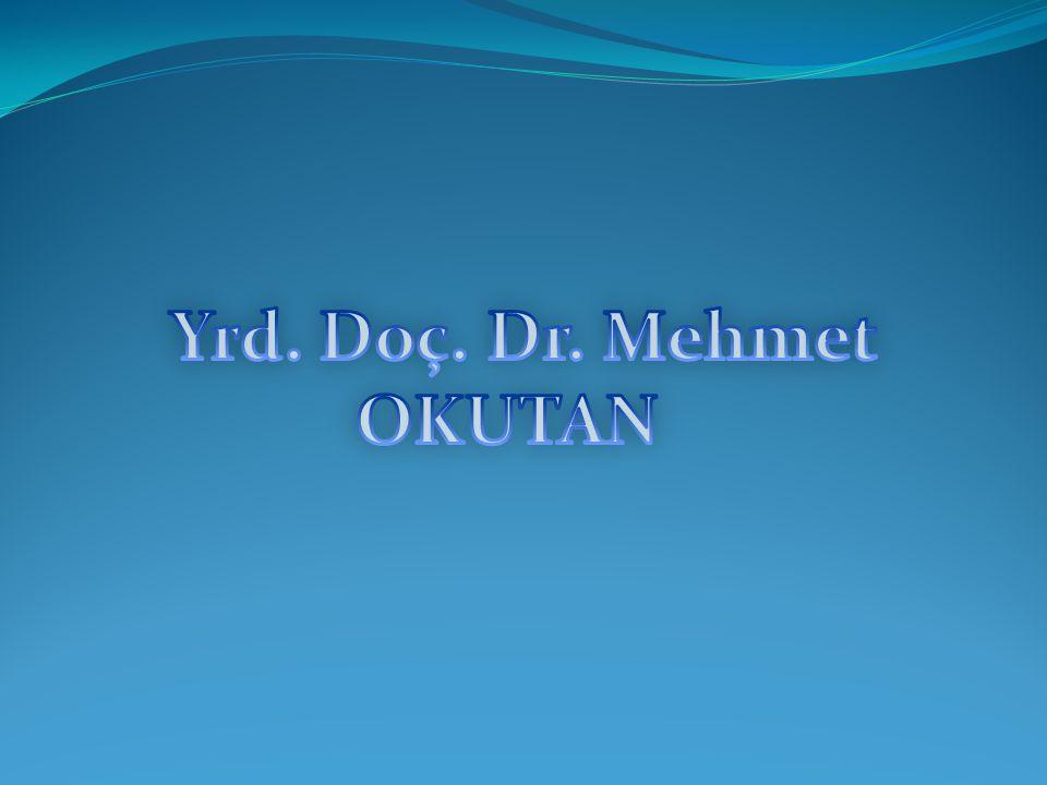 Yrd. Doç. Dr. Mehmet OKUTAN