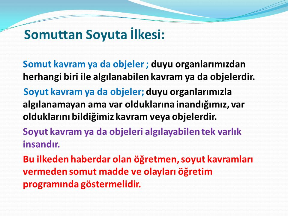Somuttan Soyuta İlkesi: