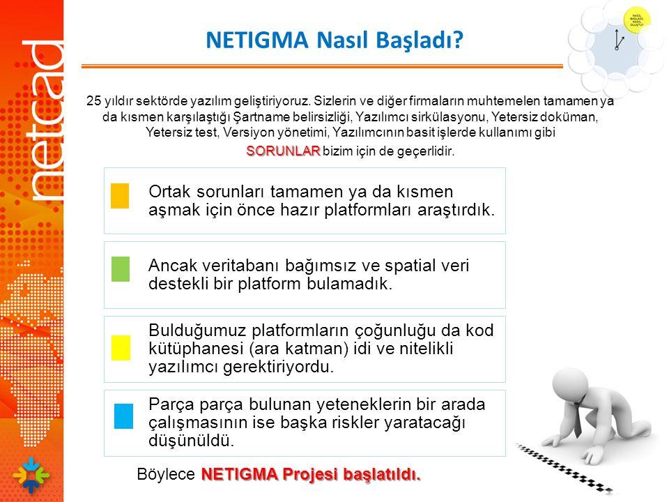 NETIGMA Nasıl Başladı Böylece NETIGMA Projesi başlatıldı.