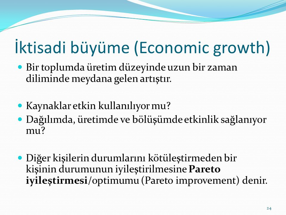 İktisadi büyüme (Economic growth)