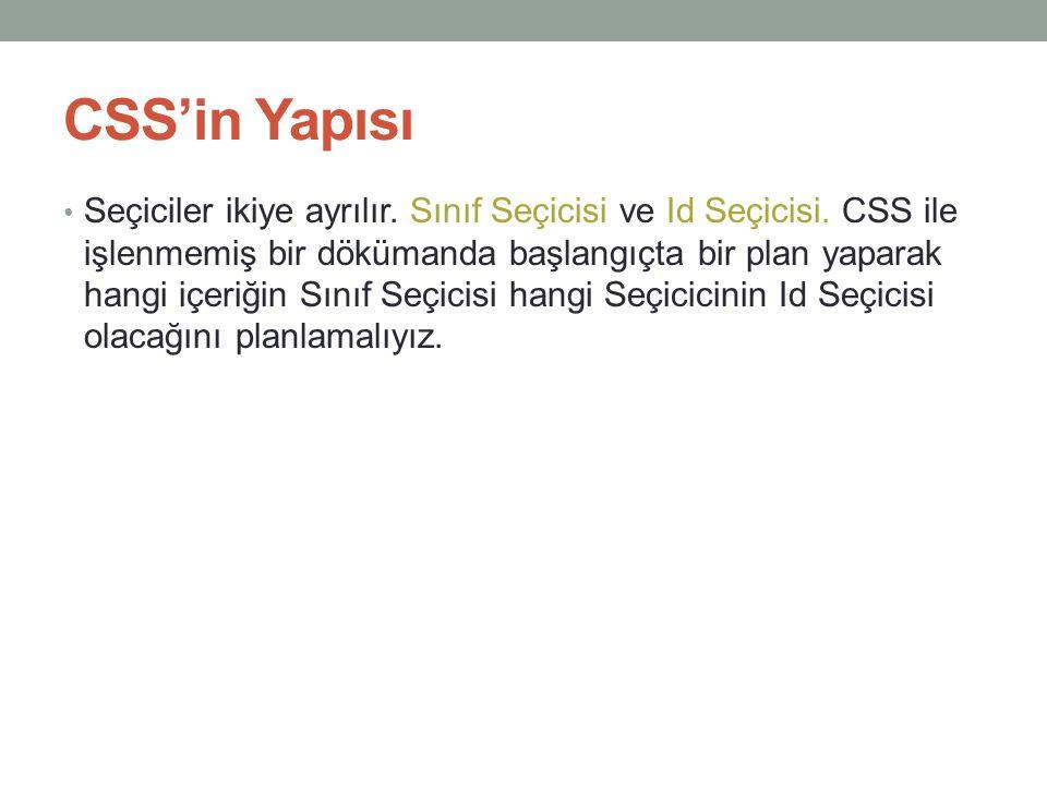 CSS'in Yapısı