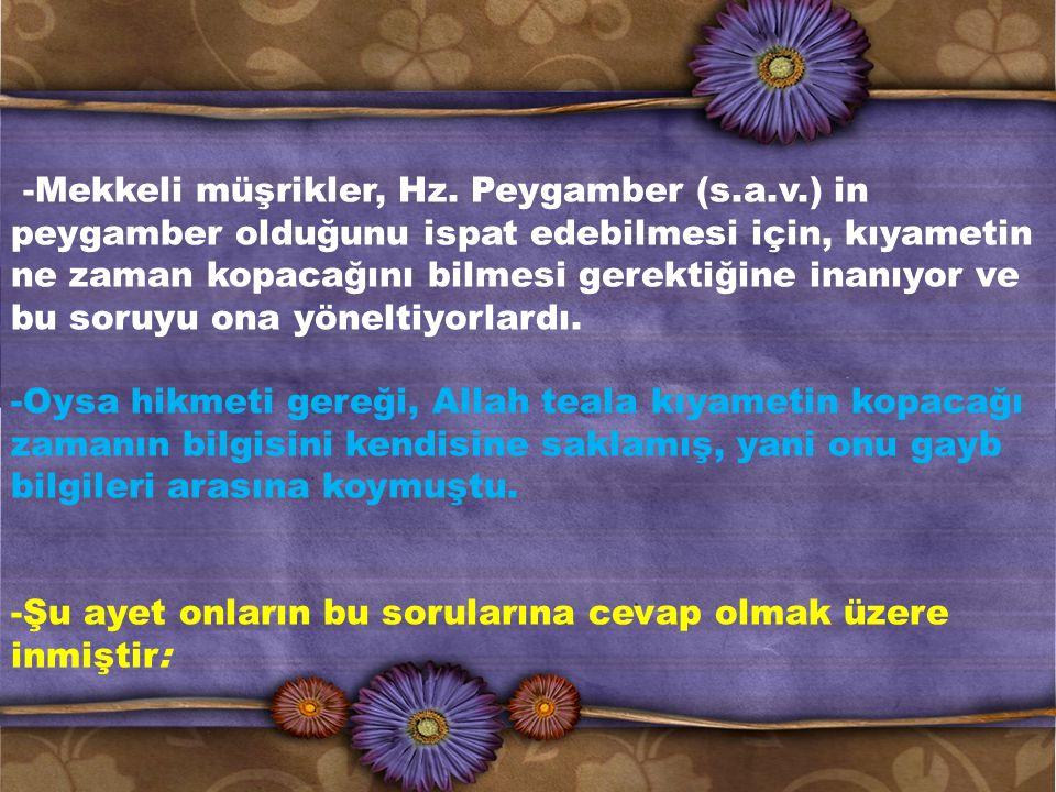 -Mekkeli müşrikler, Hz. Peygamber (s. a. v