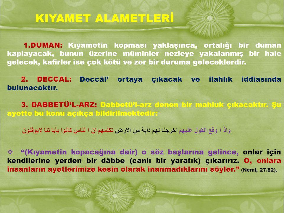 KIYAMET ALAMETLERİ