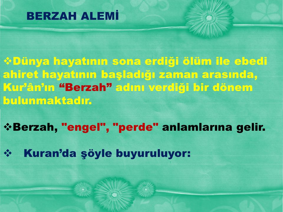 BERZAH ALEMİ