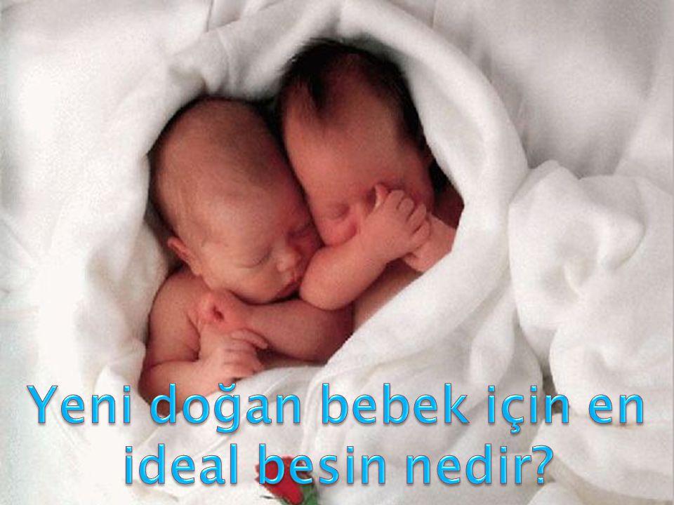 Yeni doğan bebek için en ideal besin nedir