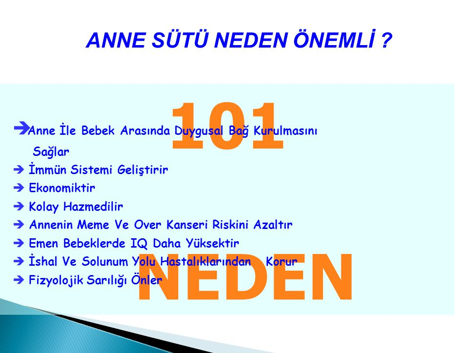 101 NEDEN ANNE SÜTÜ NEDEN ÖNEMLİ