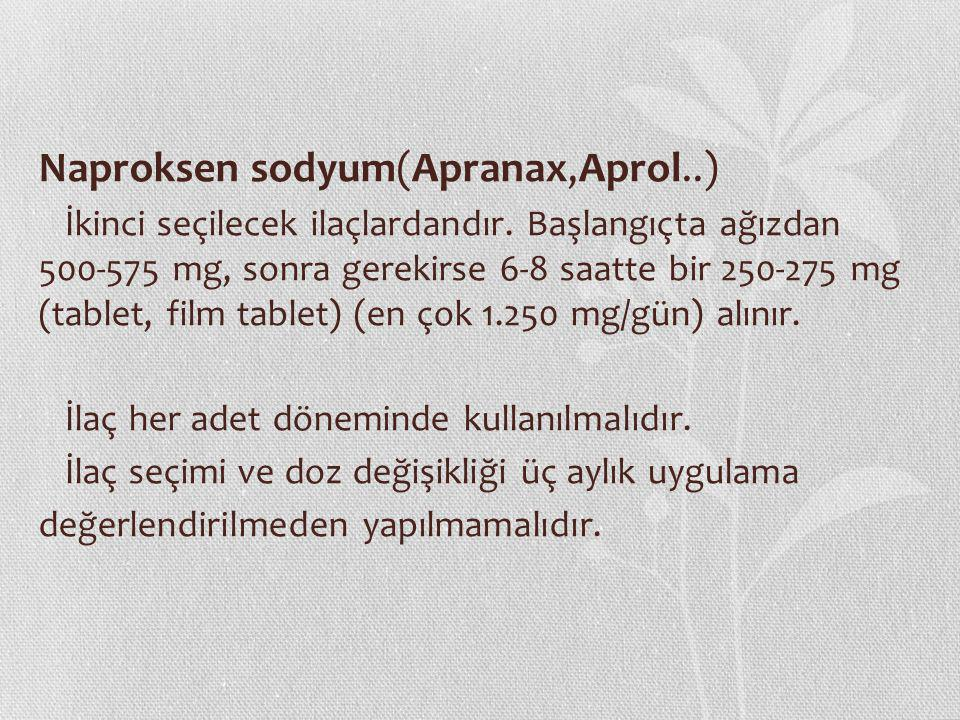 Naproksen sodyum(Apranax,Aprol..)