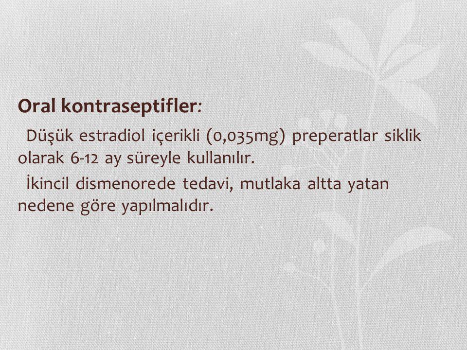 Oral kontraseptifler: