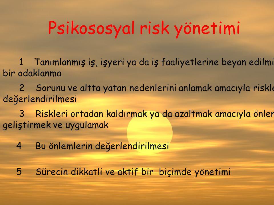 Psikososyal risk yönetimi