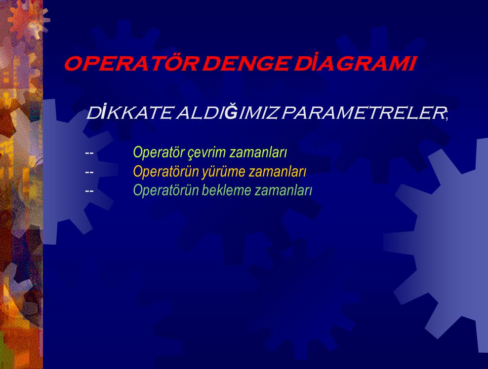 OPERATÖR DENGE DİAGRAMI