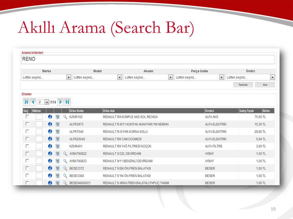 Akıllı Arama (Search Bar)