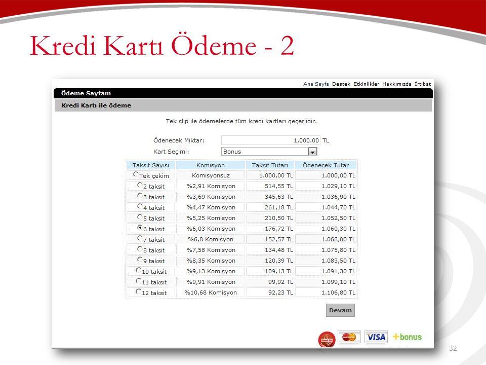 Kredi Kartı Ödeme - 2