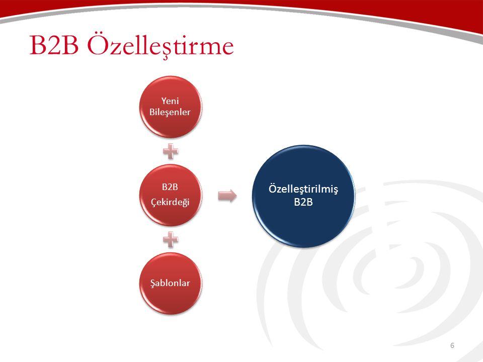 B2B Özelleştirme B2B Portal Yeni Bileşenler Çekirdeği B2B Şablonlar