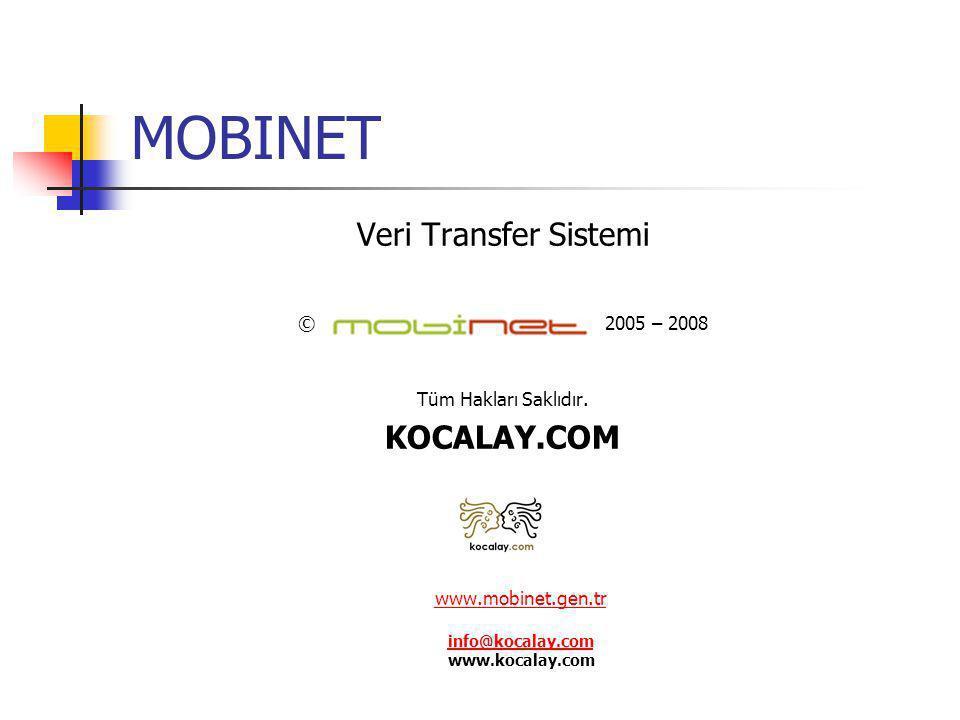www.mobinet.gen.tr info@kocalay.com www.kocalay.com