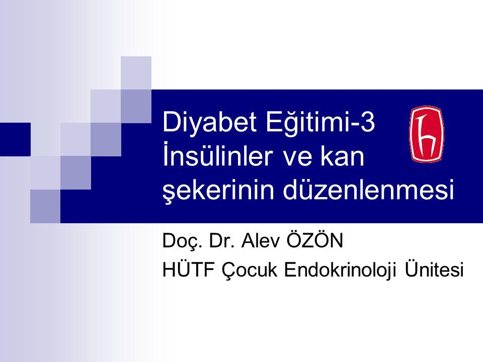 Diyabet Eğitimi-3 İnsülinler ve kan şekerinin düzenlenmesi