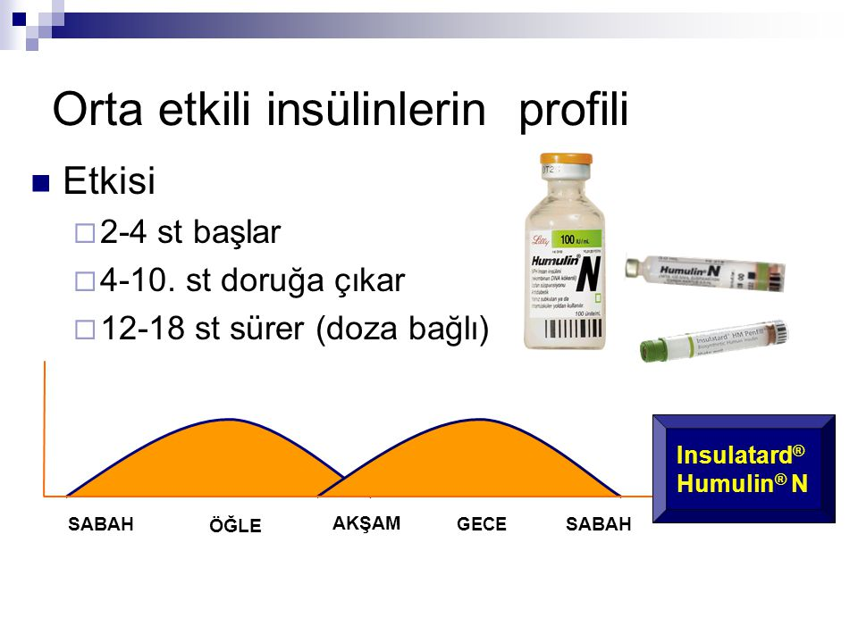 Orta etkili insülinlerin profili