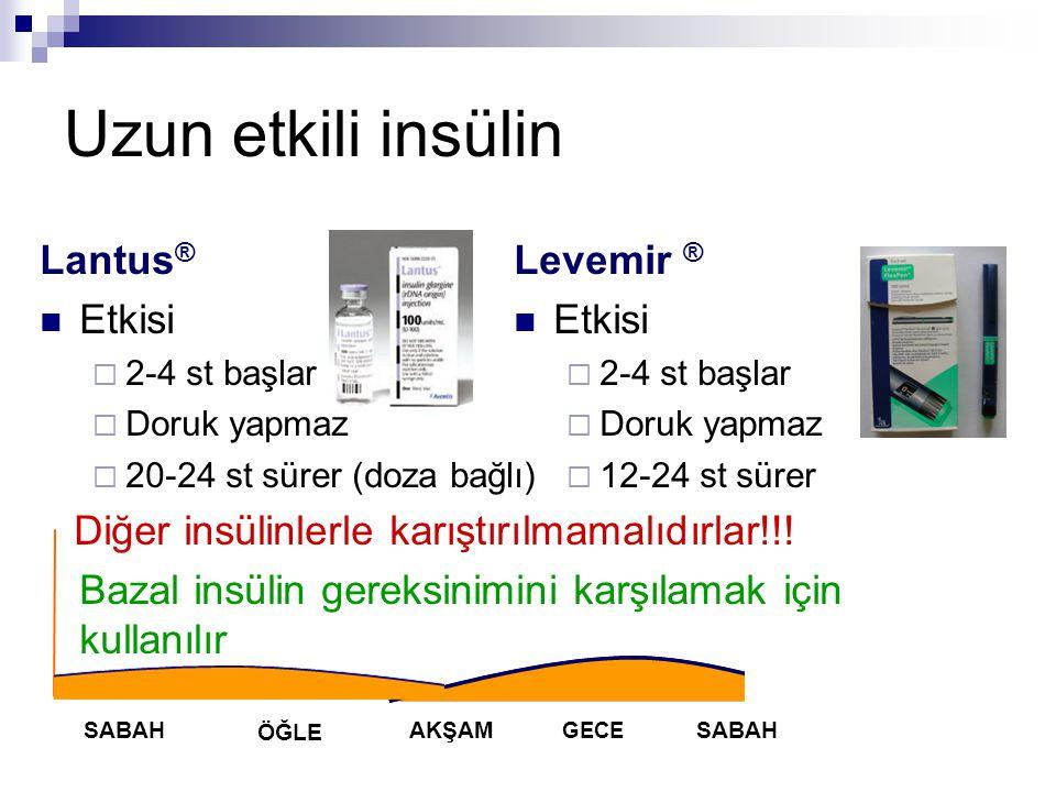 Uzun etkili insülin Lantus® Etkisi