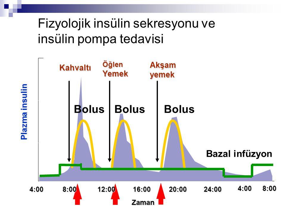 Fizyolojik insülin sekresyonu ve insülin pompa tedavisi
