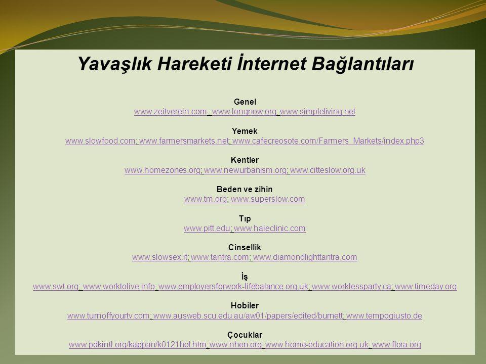 Yavaşlık Hareketi İnternet Bağlantıları
