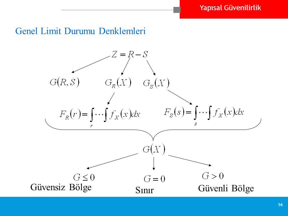 Genel Limit Durumu Denklemleri