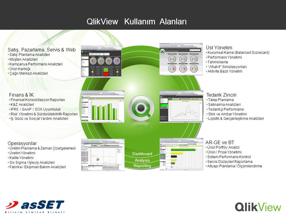 QlikView Kullanım Alanları