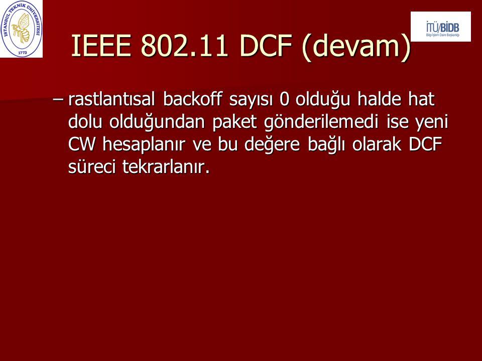 IEEE 802.11 DCF (devam)