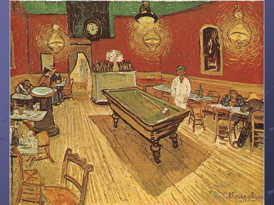 Van Gogh The night café 1888; Yale University Art Gallery
