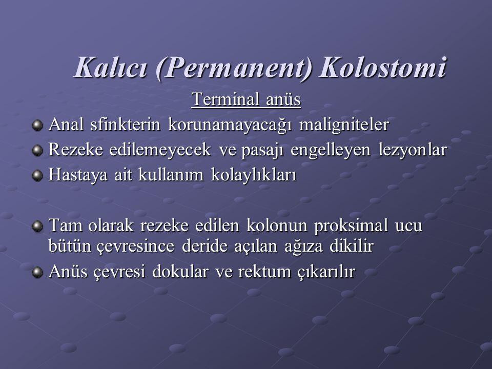 Kalıcı (Permanent) Kolostomi