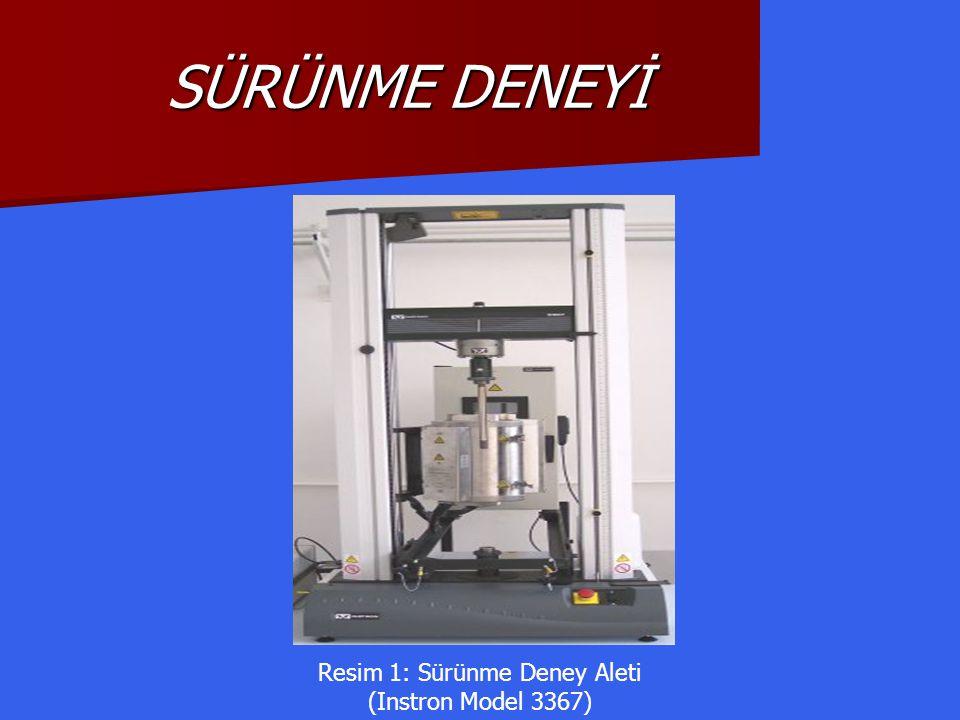 Resim 1: Sürünme Deney Aleti (Instron Model 3367)