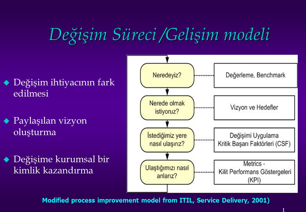 Değişim Süreci /Gelişim modeli