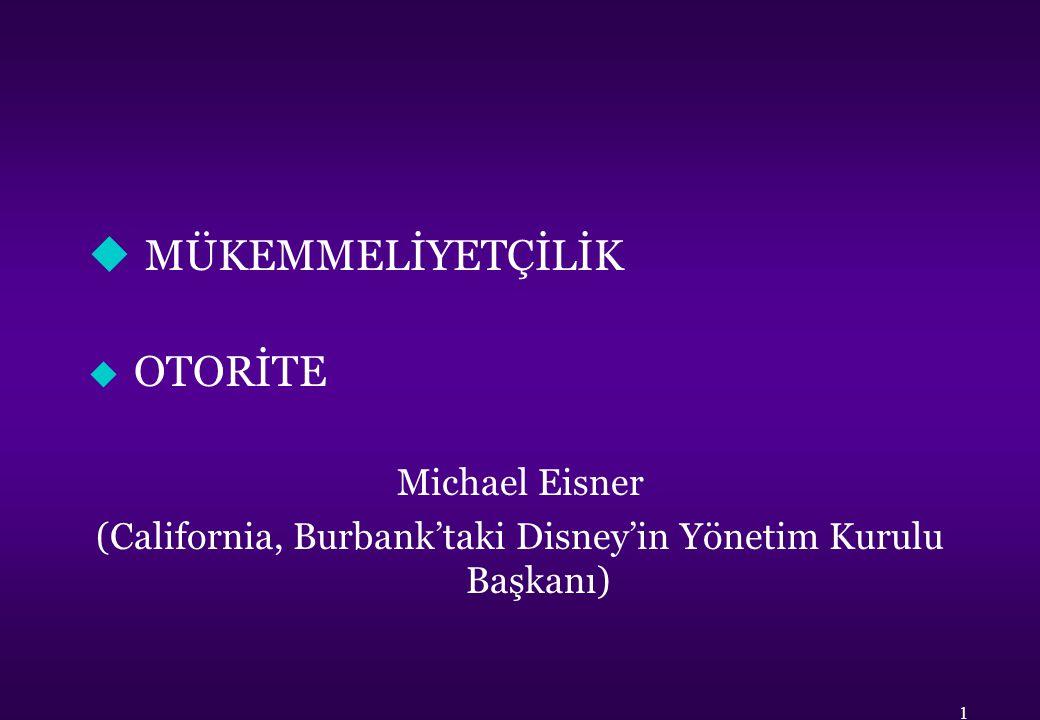 (California, Burbank'taki Disney'in Yönetim Kurulu Başkanı)