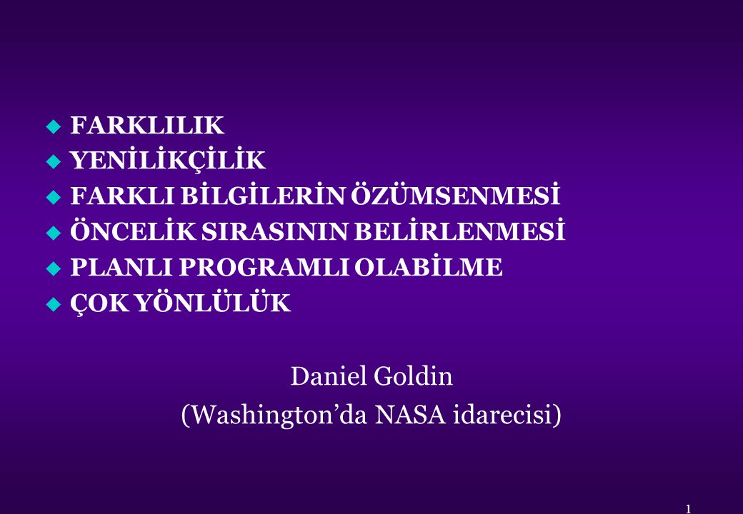 (Washington'da NASA idarecisi)