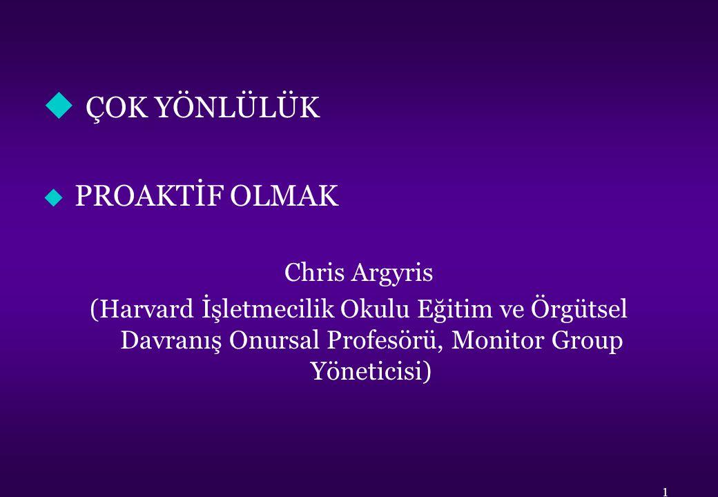 ÇOK YÖNLÜLÜK PROAKTİF OLMAK Chris Argyris