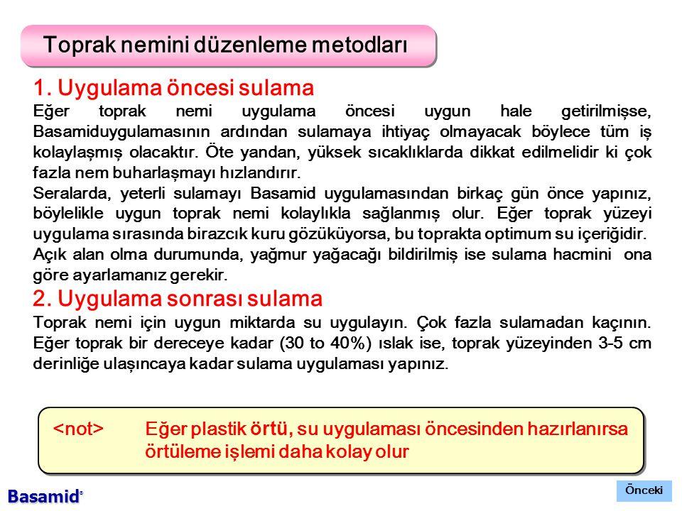 Toprak nemini düzenleme metodları