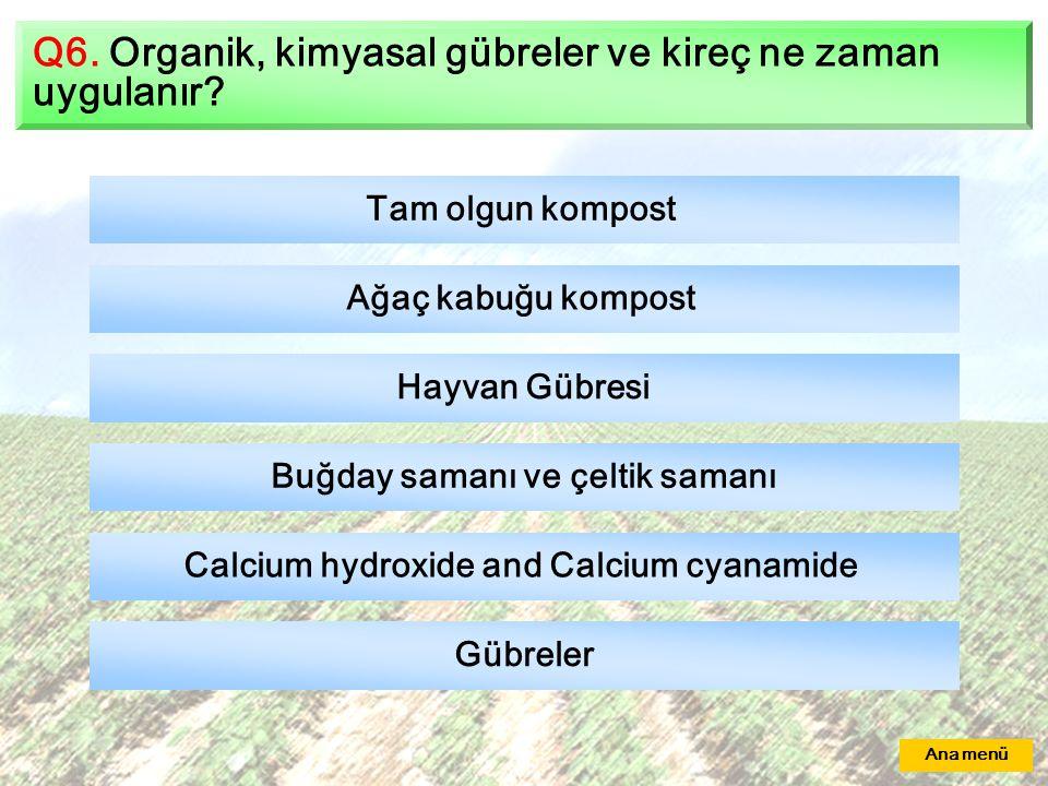 Buğday samanı ve çeltik samanı Calcium hydroxide and Calcium cyanamide
