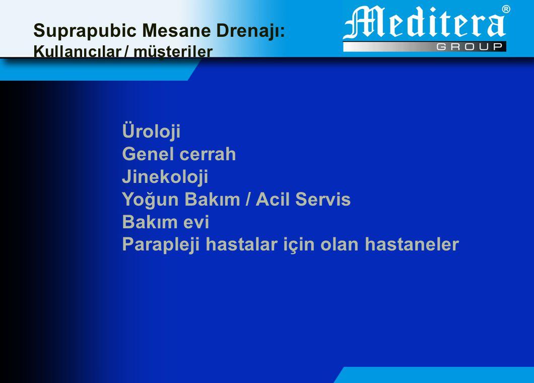 Suprapubic Mesane Drenajı: Kullanıcılar / müşteriler