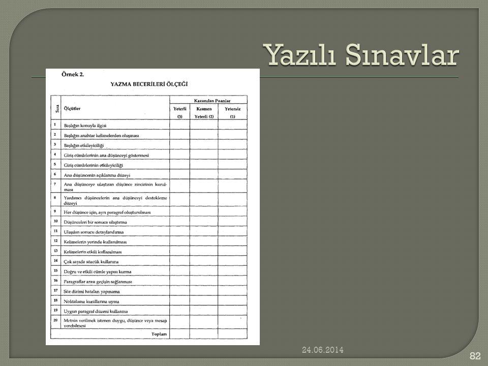 Yazılı Sınavlar 03.04.2017