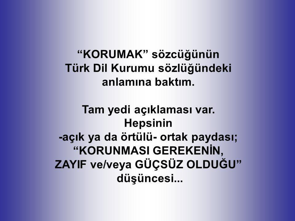Türk Dil Kurumu sözlüğündeki anlamına baktım. Tam yedi açıklaması var.