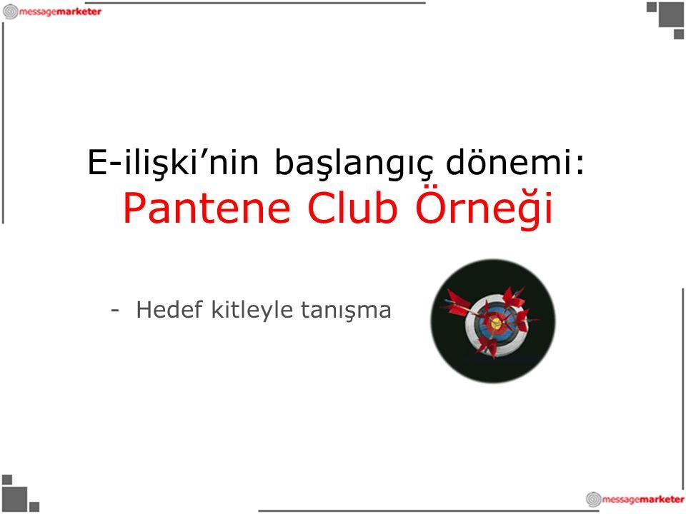 E-ilişki'nin başlangıç dönemi: Pantene Club Örneği