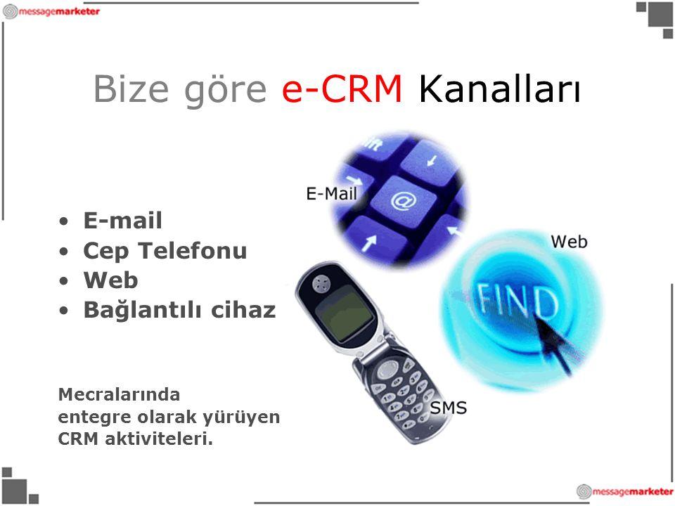 Bize göre e-CRM Kanalları